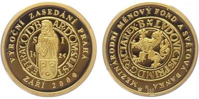 Medaile 2000 - Mezinárodní měnový fond, PROOF