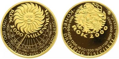 Medaile 2000 - Milenium 2000, PROOF