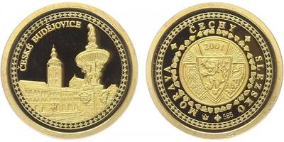 Medaile 2001 - České Budějovice, PROOF