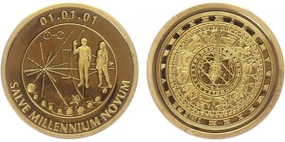 Medaile 2001 - Počátek nového tisíciletí, PROOF