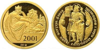 AR Medaile 2001 - Svatováclavský dukát, PROOF