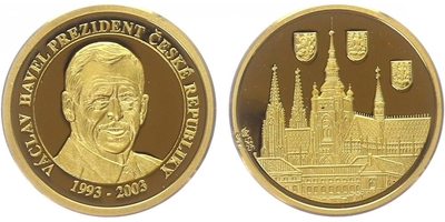 Medaile 2003 - Václav Havel, PROOF