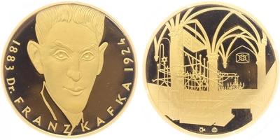 Medaile b.l. - Dr. Franz Kafka, PROOF