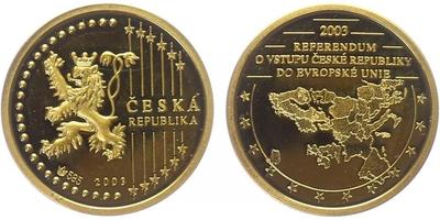 Medaile 2003 - Referendum o Evropské unii, PROOF