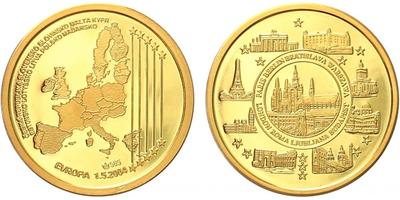 Medaile 2004 - Vstup České republiky do EU, 1.5.2004