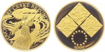 2 dukát 2005 - Libuše, Au 0,999 (7,78 g), náklad 500 ks, etue a certififikát, PROOF