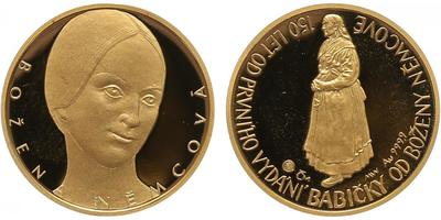 Medaile 2005 - Božena Němcová - 150 let od prvního vydání Babičky, PROOF