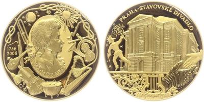 Medaile 2006 - 250. výročí narození W. A. Mozarta, PROOF