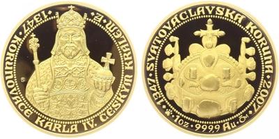 Medaile 2007 - 660 let od korunovace Karla IV. českým králem, PROOF