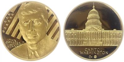 Medaile 2009 - Barack Obama, PROOF