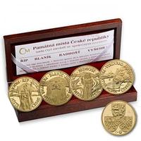 Sada 4 kusů medailí se společným reversem 2010 - Památná místa České republiky
