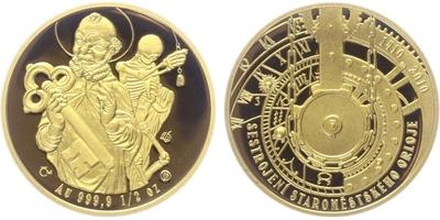 Medaile 2010 - 600 let od sestrojení Staroměstského orloje, PROOF