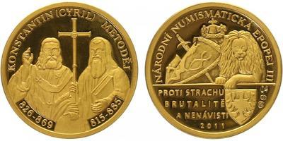Číslovaná medaile 2011 - Cyril a Metoděj - Národní numismatická epopej, PROOF
