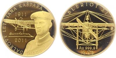 Medaile 2012 - Václav Havel, Au 0,9999 (15,56 g), etue, certifikát, PROOF