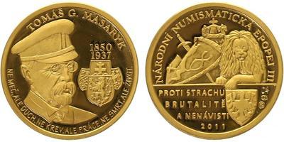 Číslovaná medaile 2011 - Tomáš Garrigue Masaryk - Národní numismatická epopej, PROOF
