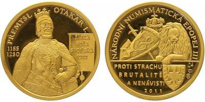 Číslovaná medaile 2011 - Přemysl Otakar I. - Národní numismatická epopej, PROOF