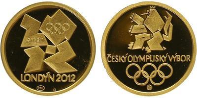Medaile 2012 - OH Londýn / Český olympijský výbor, PROOF