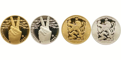 Sada medailí b.l. - 17. listopad 1989, PROOF