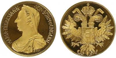 Medaile b.l. - Dukát Marie Terezie, PROOF
