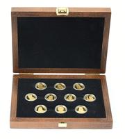 Sada 10 zlatých medailí b.l. - Čeští svatí v dílech mistrů, PROOF