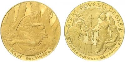 Medaile b.l. - Staré pověsti České - Kazi léčitelka, PROOF
