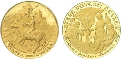 Medaile b.l. - Staré pověsti České - Vlasta bojovnice, PROOF