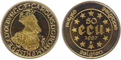 50 Ecu 1987 - Karel V., běžná kvalita