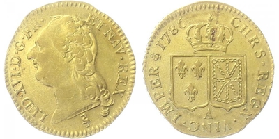 Louis d`or 1786 A, Pařiž, Au 0,917 (7,649 g)
