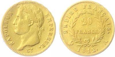 20 Frank 1812 A, Paříž