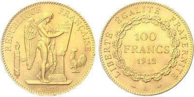 100 Frank 1912 A
