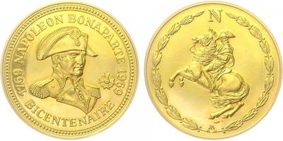 Medaile b.l. - 200. výročí narození Napoleona Bonaparte