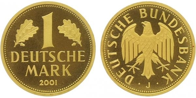 1 Marka 2001 J - Au 0,9999, 23,5 mm (12,0 g)