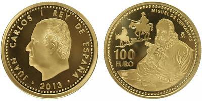 100 Euro 2013 - Miguel de Cervantes, PROOF