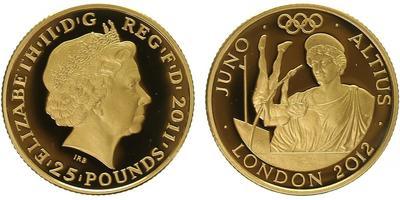 25 Pounds 2012 - Olympiáda Londýn 2012, Římská bohyně Juno, PROOF