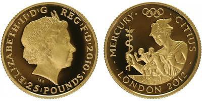 25 Pounds 2012 - Olympiáda Londýn 2012, Římský bůh Merkur, PROOF