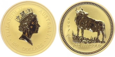 100 Dolar 1997 - Lunární znamení - Rok býka