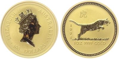 100 Dolar 1998 - Lunární znamení - Rok tygra