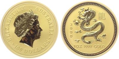 100 Dolar 2000 - Lunární znamení - Rok draka
