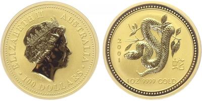 100 Dolar 2001 - Lunární znamení - Rok hada