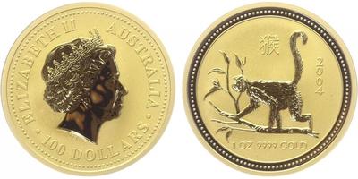 100 Dolar 2004 - Lunární znamení - Rok opice