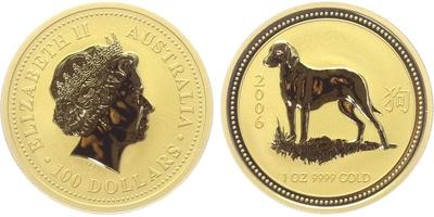 100 Dolar 2006 - Lunární znamení - Rok psa
