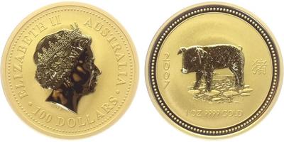 100 Dolar 2007 - Lunární znamení - Rok prasete