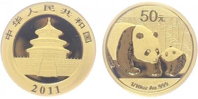 50 Yuan 2011 - Panda, PROOF