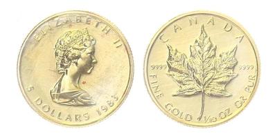 Kanada, 5 Dollars 1983, běžná kvalita