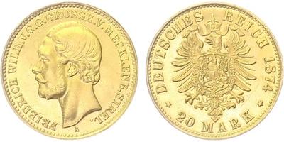 20 Marka 1905 D, Au 0,900 (7,965 g)