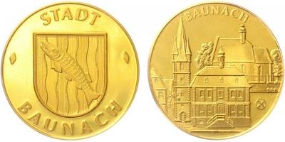 Medaile b.l. - Město Baunach, standart