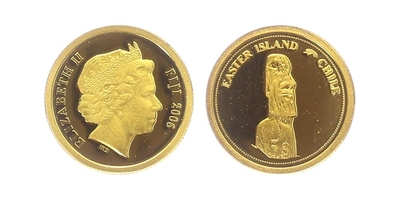 5 Dollar 2006 - Velikonočné ostrovy, PROOF