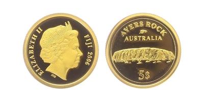5 Dollar 2006 - Ayerská skála, PROOF