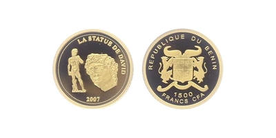 1500 Franků 2007 - David, PROOF
