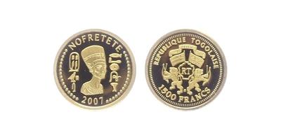 1500 Franků 2007 - Nefertiti, PROOF